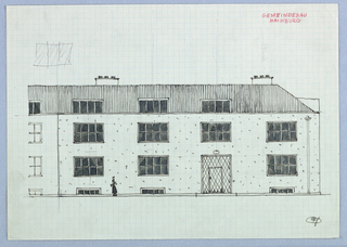 Facade elevation of a building.