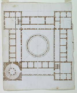 Drawing, Design for a large palace