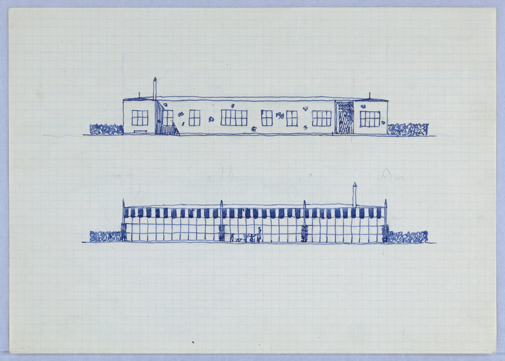 Elevations for two buildings.