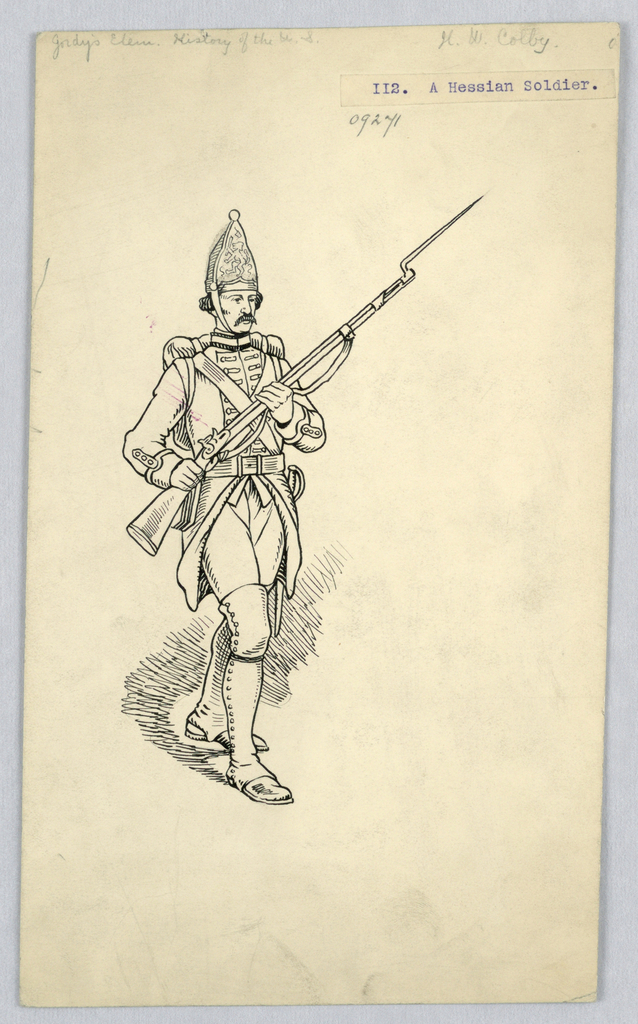 Drawing, A Hessian Soldier