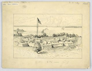 Drawing, Fort McHenry