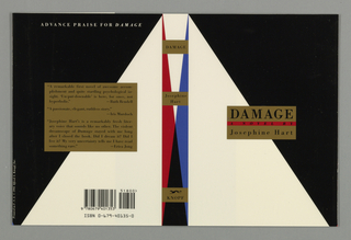 Book Cover, Damage, 1991