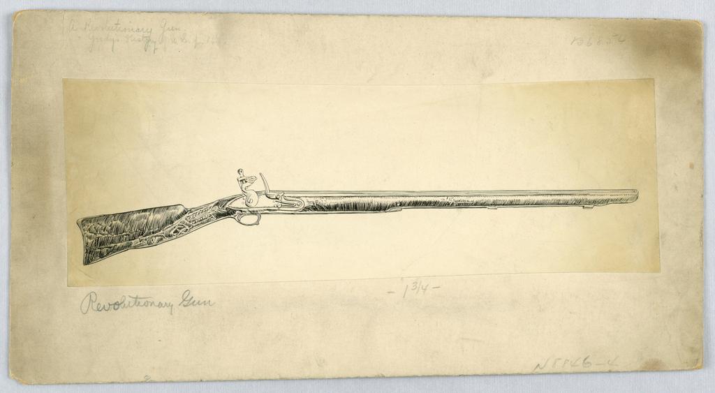 Drawing, A Revolutionary Gun