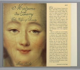 Book Cover, Madame du Barry, 1992