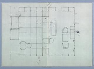 Drawing, Tabak-Trafik Naber [Tobaccanist's Shop (Floor Plan)]