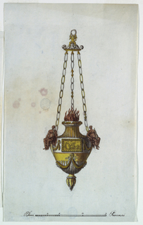Three chains with virtues. Scale: at bottom, in palmi romani