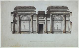 Drawing, Wall Elevation, Alexander Palace, Tsarkoie-Selo, Russia