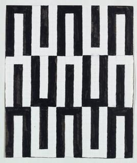Black geometric pattern of U-shapes.