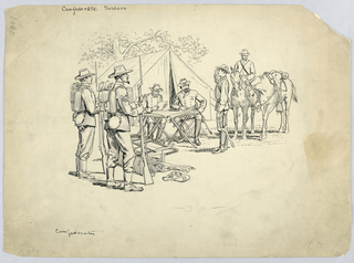 Drawing, Confederate Soldiers