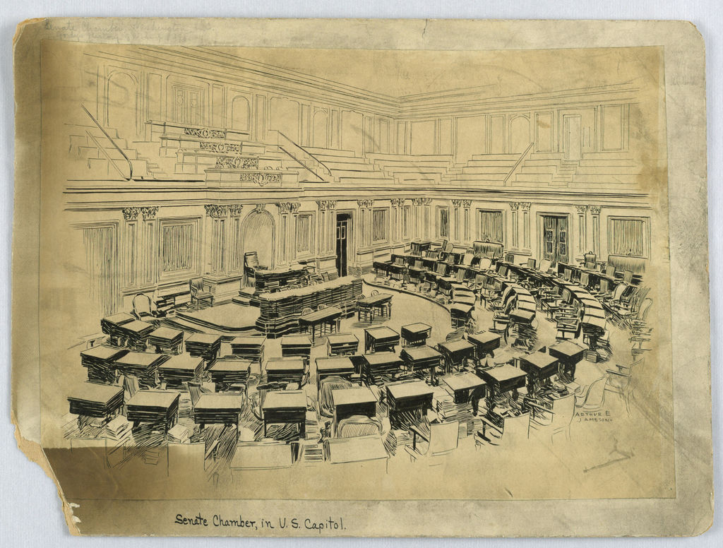 Drawing, Senate Chamber, Washington, DC