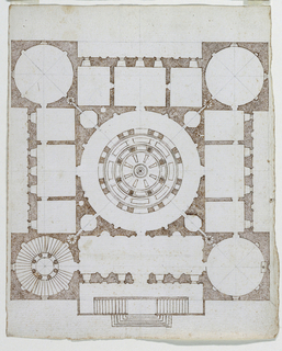 Drawing, Design for a large palace, ca. 1575