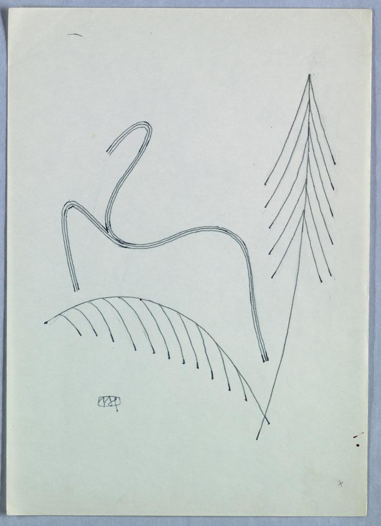 Ornamental design with arrow.