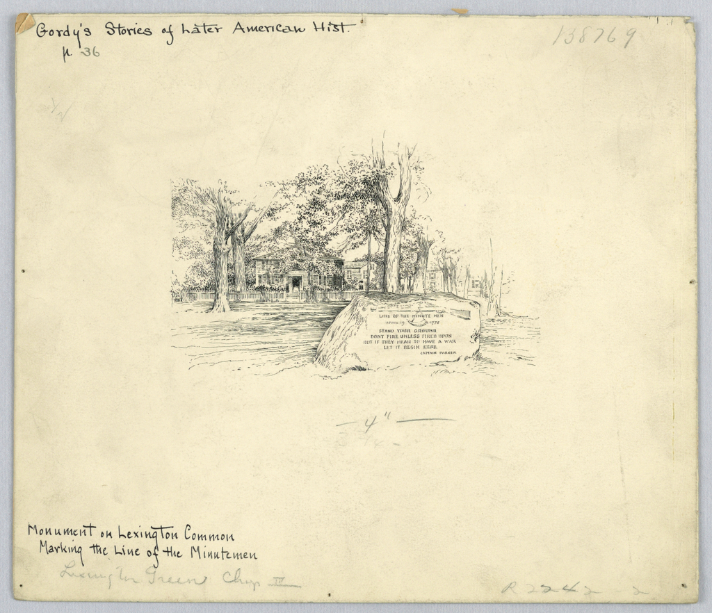 Drawing, Monument on Lexington Common