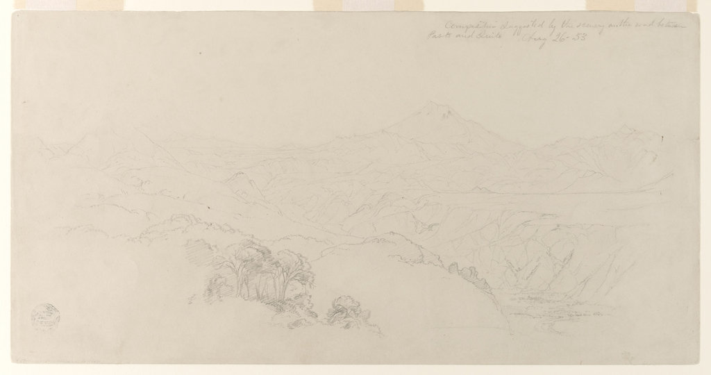 Drawing, Landscape Composition: Suggested by Scenery on the Road Between Paso, Colombia and Quito, Ecuador.