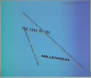 """Poster, """"The Edge of the Milleniu, 1991"""