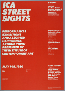 Poster, ICA Street Sights, 1980