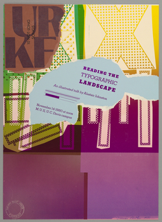 Poster, Reading the Typographic Landscape: An illustrated talk by Alastair Johnston