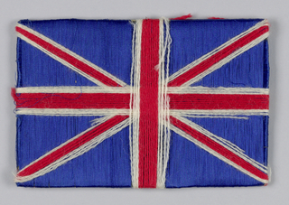 British flag on a panel.