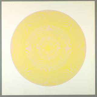 """Print, Butter Yellow Over Beige, Plate 13, """"Color/Moire"""" Portfolio"""