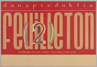 Poster, Dansproductie Feuilleton, 1982