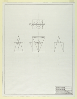 Photostat, Scale drawing of a teapot, 1987