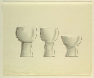 Drawing, Three goblets