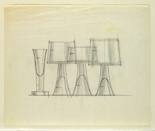 Drawing, Four glasses