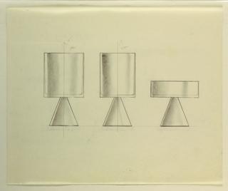 Drawing, Three geometric goblets (
