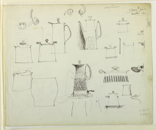 Drawing, Studies of dining vessels
