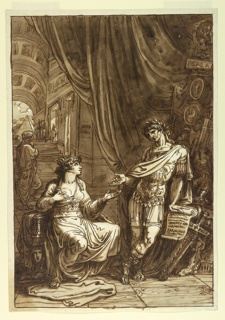 Drawing, Cleopatra Pleading with Caesar