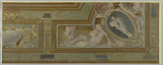 Drawing, Study for Section of Ceiling Ornament, late 19th century
