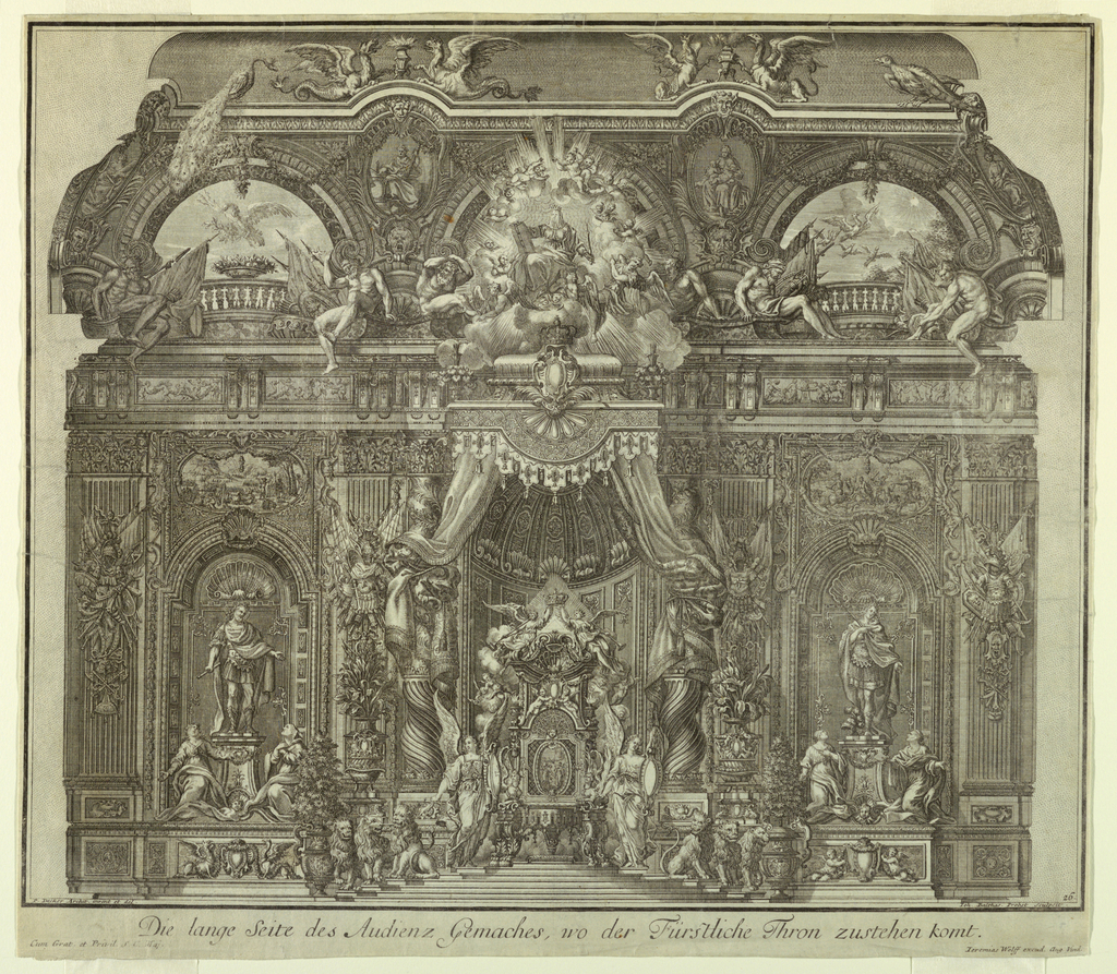 Print, Interior of a Throne Room, 1740–44