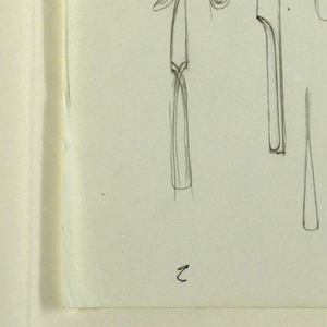 Design of flatware: forks and knives.