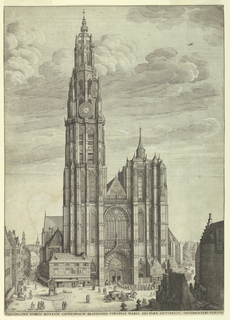 Print, View of Antwerp Cathedral