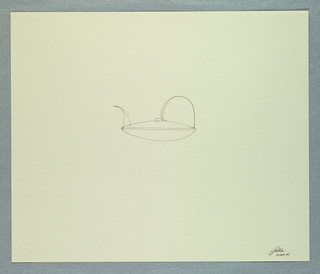 Drawing, Study for a teapot, May 26, 1985