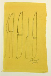 Flatware design: knives.