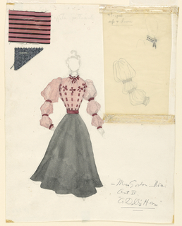 Drawing, Costume Design: Nora, Act II, for A Doll's House