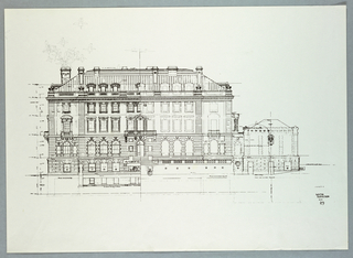 South elevation of the Carnegie Mansion
