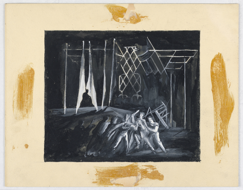 Drawing, Stage Design: Julius Caesar