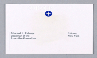 Business Card, Citicorp