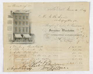 Document, Invoice, Charles A. Baudo, before 1849