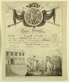 Certificate, Fireman's Certificate