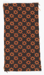 Rust-colored diamonds in a diagonal grid on a black background.