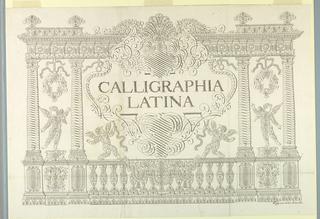 """Print, Title Page """"Calligraphia Latina,"""" in Dissertatio epistolaris de calligraphiae nomenclatione..., 1756"""