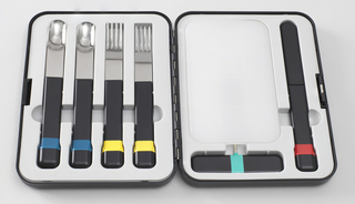 Rectangular hinged case made of molded plastic