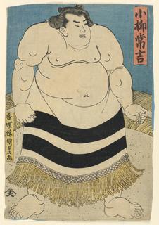 Print, The sumo wrestler Koyanagi Tsunekichi, ca. 1840