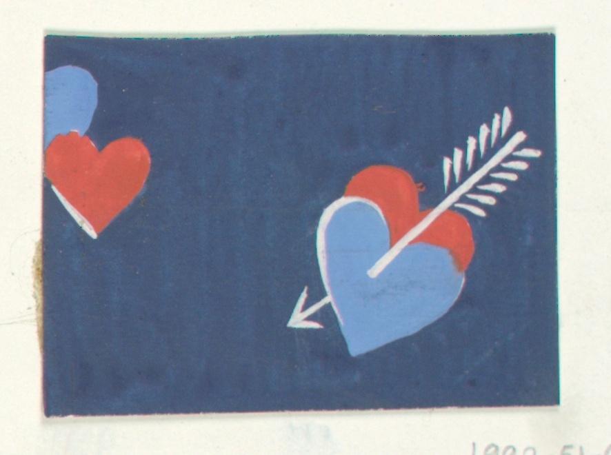 Drawing, Heart Motif, Textile Design