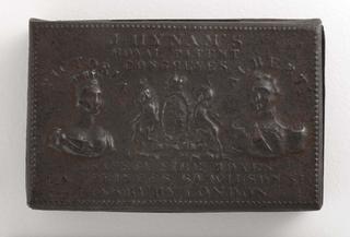 """J. Hynam's Royal Patent Congreves & Safety Fire Boxes"" Matchsafe"