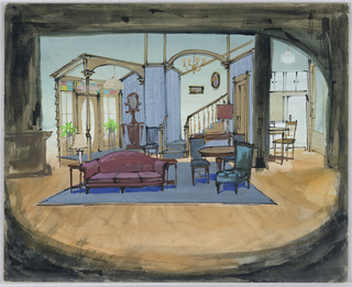 """Drawing, Stage Design for """"Take a Giant Step"""""""