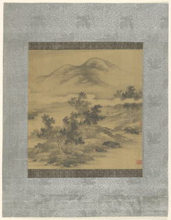 Drawing, Mountain Landscape, 17th century